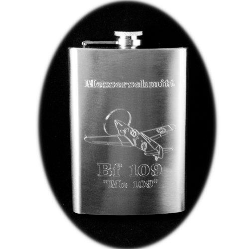 - 8oz BF 109 Hip Flask Messerschmitt ME 109 Airplane