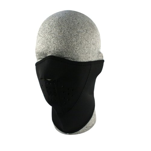 ZANheadgear Neoprene 3-Panel Half Mask (Black)