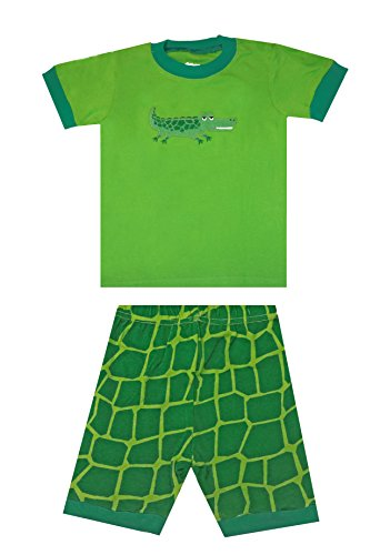 pandaprince-crocodile-boys-shirt-toddler-clothes-kids-short-pajamas-cotton-sleepwear-pjs-3t-green