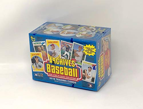 Large Product Image of Topps 2018 Archives Baseball Blaster Box (8 Packs/8 Cards, 2 Coin Inserts)