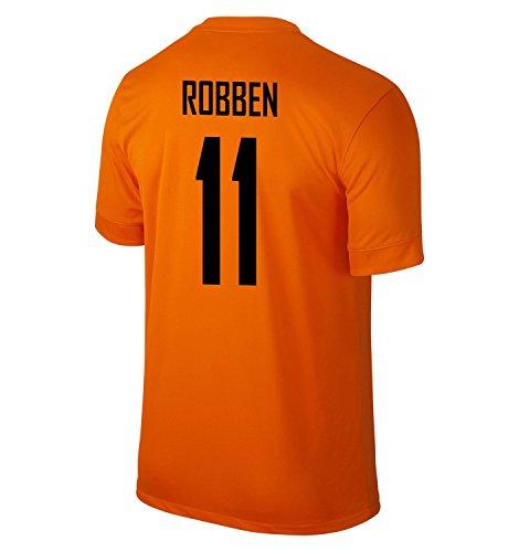 スペースアテンダント抑圧NIKE ROBBEN #11 Holland Home Jersey 2014-15/サッカーユニフォーム オランダ ホーム用 背番号11 ロッベン 2014-15