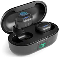Moing IPX5 Sweatproof Bluetooth 5.0 Earbuds with Built-in Mic