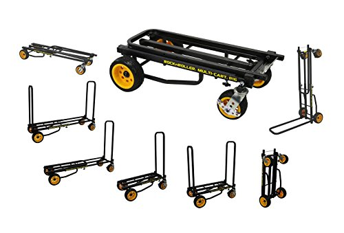 "Rock-N-Roller R16RT (Max Wide) 8-in-1 Folding Multi-Cart/Hand Truck/Dolly/Platform Cart/34"" to 52"" Telescoping Frame/600 lbs. Load Capacity, Black from Rock-N-Roller"