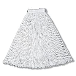 Rubbermaid Commercial Products Value Pro Cut-End Mop Head, Cotton, #24, 1-Inch Headband, White (FGV11800WH00)(Pack of 12)
