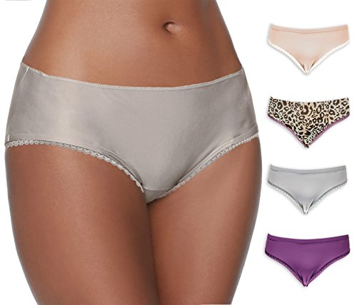 Emprella Womens Plus-Size 4 Pack Bikini Brief Panty With Smooth Comfort Feel (3X, Assorted)