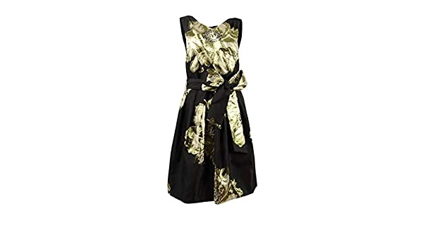 86f4116551 Tahari by ASL Womens Floral Wrap-Bodice Party Dress at Amazon Women s  Clothing store