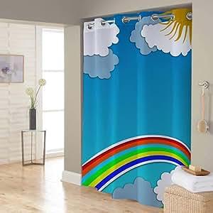 Right Canvas Blue 180cm x 200cm Shower Curtain - RG138NPIC00108