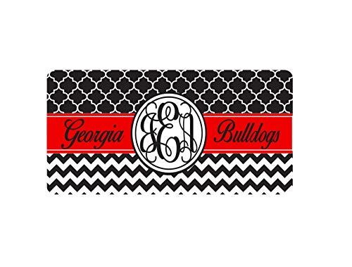 - Fhdang Decor Custom Car Tag, Monogram Car Tag, Georgia Bulldogs Car Tag, Front License Plate, Vanity Car Tag, Front Car Tag, Cute Car Accessory, 6