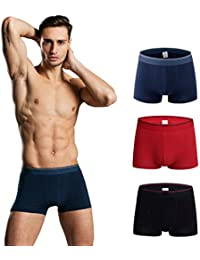 Men Underwear Boxer Briefs, Athletic Underwear Short/Long Leg, Cotton, Breathable Boxer, Pack of 3