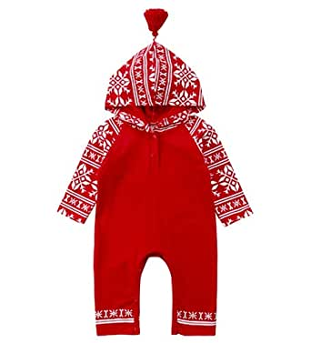 Amazon.com: Christmas Baby Romper in Nordic Winter Design