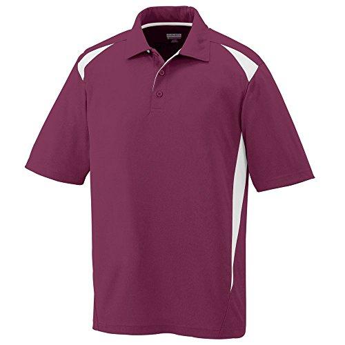 Augusta Sportswear MEN'S PREMIER SPORT SHIRT 2XL Maroon/White