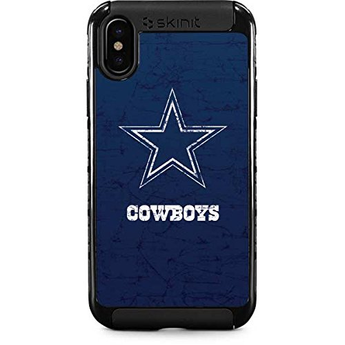 best authentic 90d17 fe771 Skinit NFL Dallas Cowboys iPhone X Cargo Case - Dallas Cowboys Distressed  Design - Durable Double Layer Phone Cover