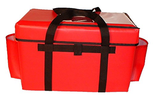TCB Insulated Bags GFC-3-Red Insulated Food Service Bag, Holds 10 Meals, 13'' x 22'' x 17.5'', Red by TCB Insulated Bags