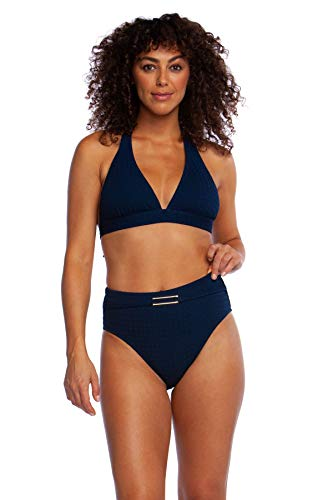 73e56a45db La Blanca Women's Banded Halter Bra Bikini Swimsuit Top, Indigo//Get to The