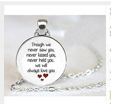 Amazon miscarriage keepsake pendant necklace loss of unborn miscarriage keepsake pendant necklace loss of unborn baby miscarriage necklace miscarriage remembrance aloadofball Images