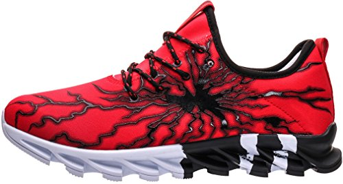 BRONAX Mens Stylish Graffiti Personality Sneakers