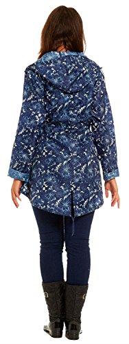 Polyester Nouveau Ella Capuchon Femmes À Lines Impression Vestes Mac Léger 2xl Imperméables Floral S ZF1rqZ6w