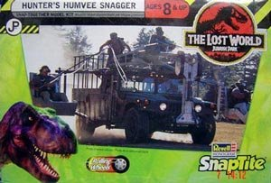 (Revell The Lost World Hunter's HumVee Snagger RARE Plastic Model Kit SNAP TOGETHER)