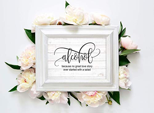 Wedding Reception Signs Set of 14 Rustic Prints Cards 5x7 Signs