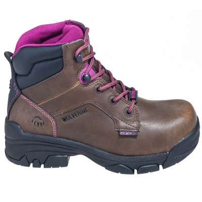 Wolverine Boots Women's 10383 Brown Merlin EH Composite Toe Boots