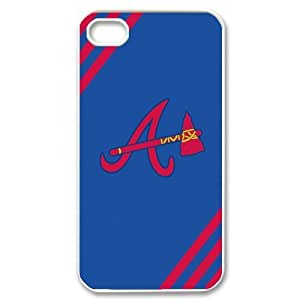 Godstore Hard Plastic MLB Atlanta Braves Primary Logo iPhone 4 4S Case