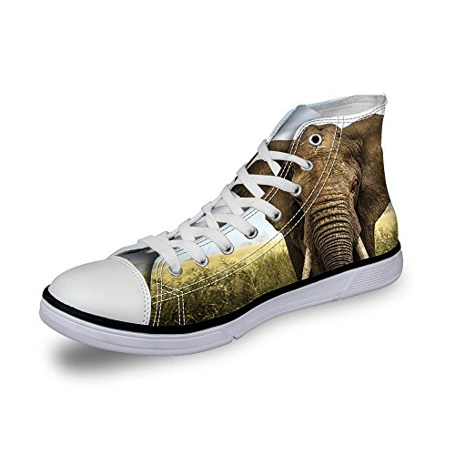 ThiKin 3Dプリント 動物柄 スニーカー キャンバス シューズ 帆布 カジュアル 靴 個性的 軽量 通気 おしゃれ ファッション 通勤 通学 プレゼント