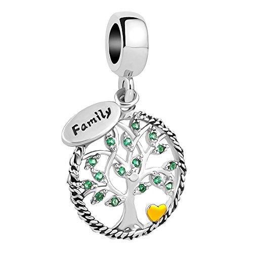 Lifequeen Heart Love Family Tree Life Charm Mom Wife Grandma Forever Celtic Knot Charms Bracelets (Family Tree-2) (Charm Womens Celtic)