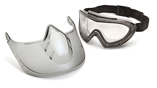 Pyramex Safety Products Capstone Dual Lens Goggle and Shield