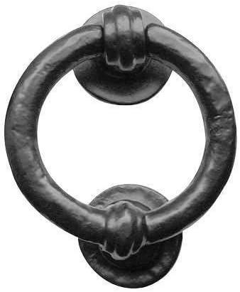 Ring Door Knocker Black Iron