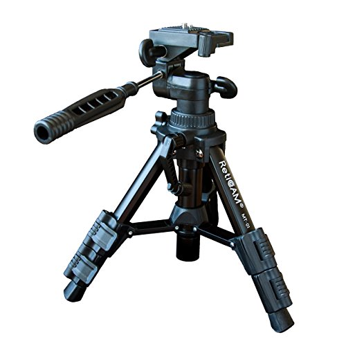 RetiCAM Tabletop Tripod with 3-Way Pan/Tilt Head, Quick Rele