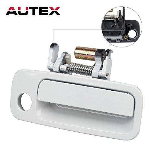 AUTEX 1pc White Exterior Door Handle-Front Right (Passenger Side) Compatible with 1997 1998 1999 2000 2001 Toyota Camry (Bulit In Japan) 79427, 69210-AA010, ()