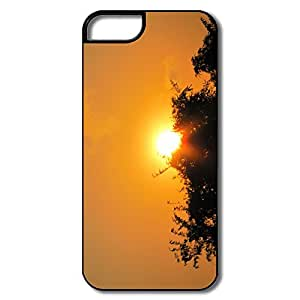 Customized Geek Plastic Case Golden Sunset For IPhone 5/5s