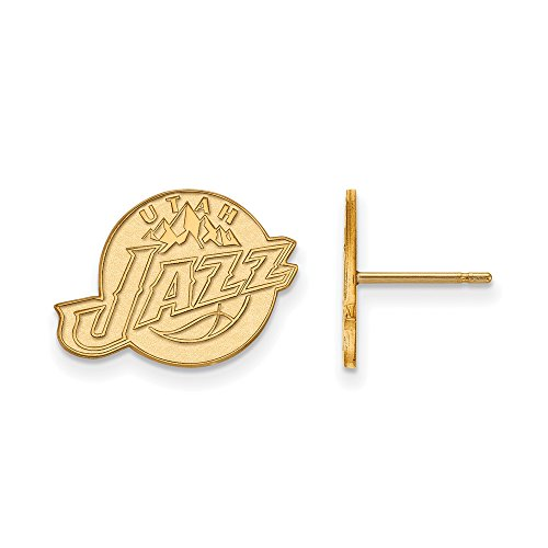 NBA Utah Jazz Post Earrings in 10K Yellow Gold by LogoArt