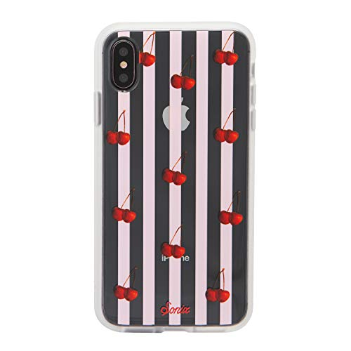 - Sonix Cherry Stripe Cell Phone Case [Military Drop Test Certified] Women's Protective Clear Series for Apple iPhone Xs Max