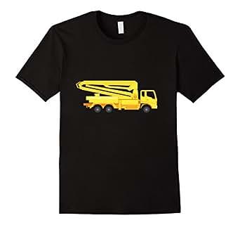 Men's Concrete Pump Truck Construction Vehicle T-Shirt  3XL Black