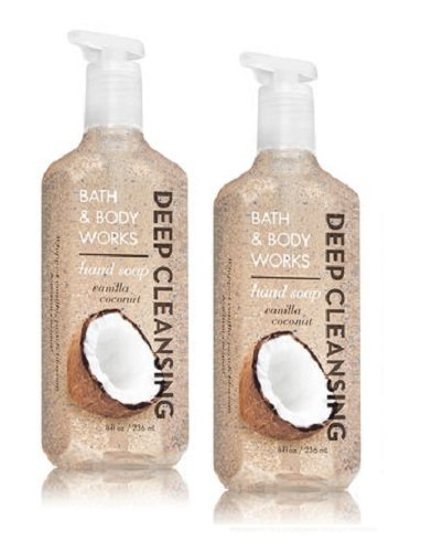 Hand Warm Vanilla Sugar Soap (Bath and Body Works Vanilla Coconut Deep Cleansing Hand Soap - Pack of 2)