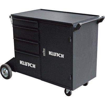 Klutch Heavy-Duty Twin Cylinder Welding Cabinet - 400-Lb. Capacity