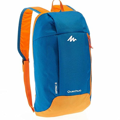 Quechua Kids Adults X-Sports Decathlon 10L Outdoor Day Backpack Small – Blue/Orange