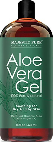Majestic Pure Aloe Vera Gel, From Organic Cold Pressed Aloe Vera, 100% Natural, 16 fl oz