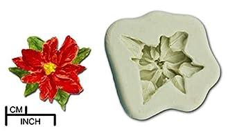 Flor de Navidad Poinsettia Craft Sugarcraft Caucho de silicona del molde del molde