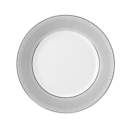 Mikasa Platinum Crown Accent Plate, - Plate Dinner Crown Platinum