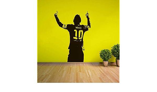 Messi Soccer Football Star Etiqueta de la pared Home Boys Room ...