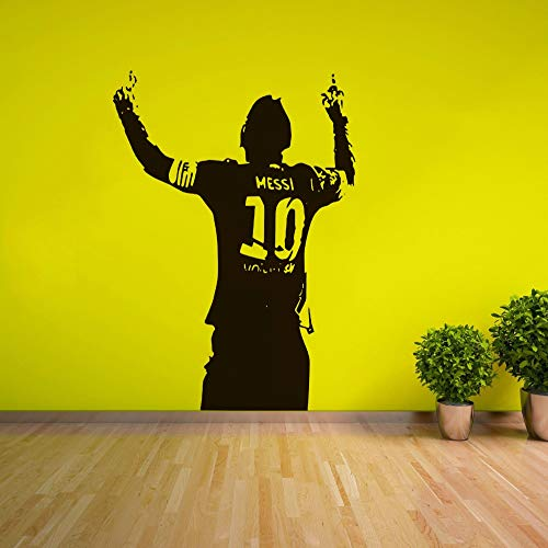 Messi Soccer Football Star Wall Sticker Home Boys Room Decor Messi Silhouette Vinyl Wall Decal Football Lover Wall Poster AY1499