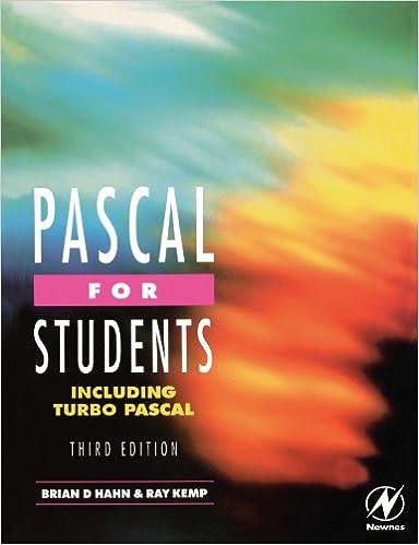 Pascal for Students (including Turbo Pascal): Amazon.es: Ray Kemp, Brian Hahn: Libros en idiomas extranjeros