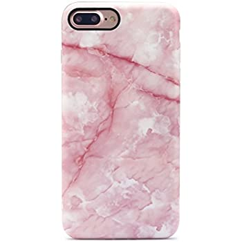 GOLINK iPhone 7 Plus Case/iPhone 8 Plus Case, IMD Printing Slim-Fit Anti-Scratch Shock Proof Anti-Finger Print Flexible TPU Gel Case For iPhone 7 Plus/iPhone 8 Plus - Pink Marble