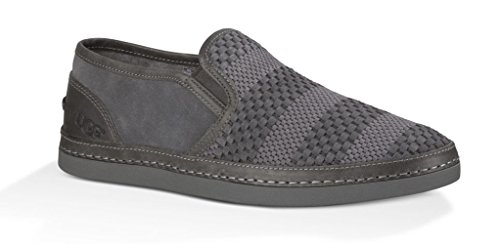 Ugg Hombres Cavette Weave Charcoal Suede