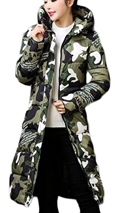 Zip Star Lungo Outwear Cappotto Print Camo Big Hooded Parka Womens Tang wIxYqW7FZ