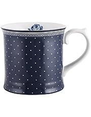 Katie Alice Creative Tops Tazza stile Vintage, motivo a pois, in porcellana, colore: blu