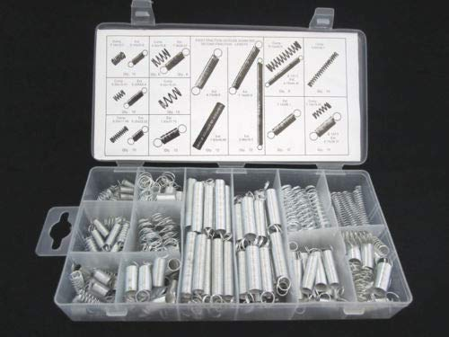 Jienie 200 PCS/Lot Industrial Extension and Compression Steel Spring Assortment Kit with Case