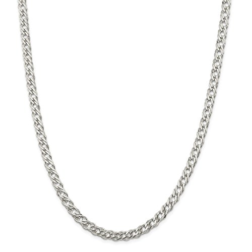 925 Sterling Silver 5.25mm Double 6 Side Flat Cuban Link Chain Necklace 20 Inch Pendant Charm Curb Fancy Fine Jewelry Gifts For Women For Her